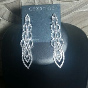 Cezanne Sparkly Crystal Long Party Earrings
